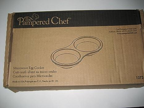 Amazon.com: La Pampered Chef Microondas Huevo Cocina de gres ...