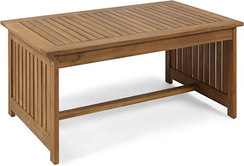 Christopher Knight Home 305546 Grace Outdoor Acacia Wood Coffee Table, Brown Patina Finish
