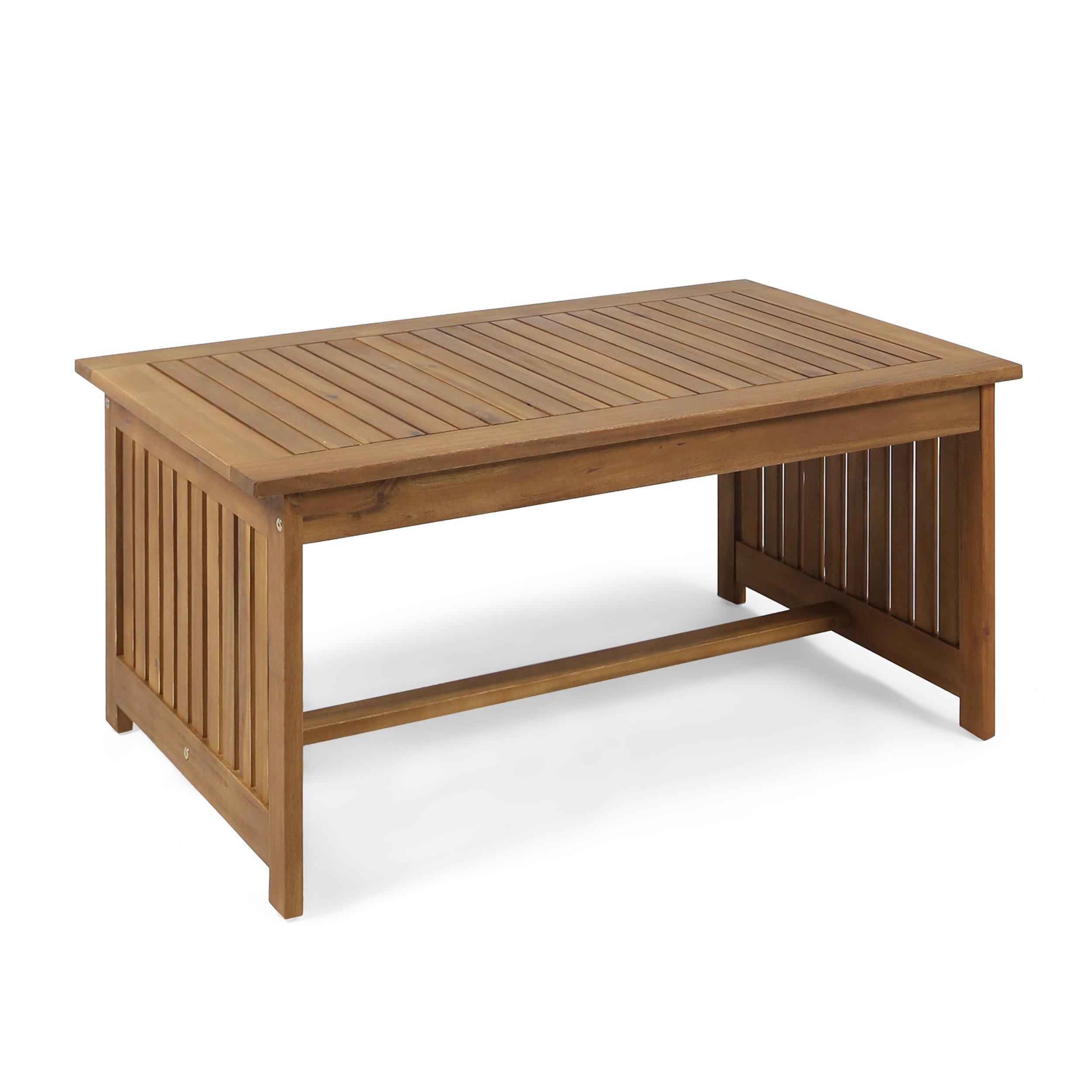 Christopher Knight Home Grace Outdoor Acacia Wood Coffee Table, Brown Patina Finish
