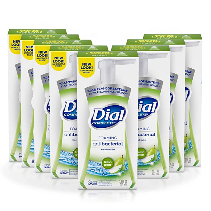 Dial Complete Antibacterial Foaming Hand Soap, Fresh Pear, 7.5 Fluid Ounces (Pack of 8)   Amazon