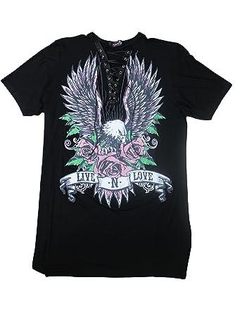 5cb6b0220382e Plus Size Eagle Print Lace Up Choker Dress at Amazon Women s Clothing store