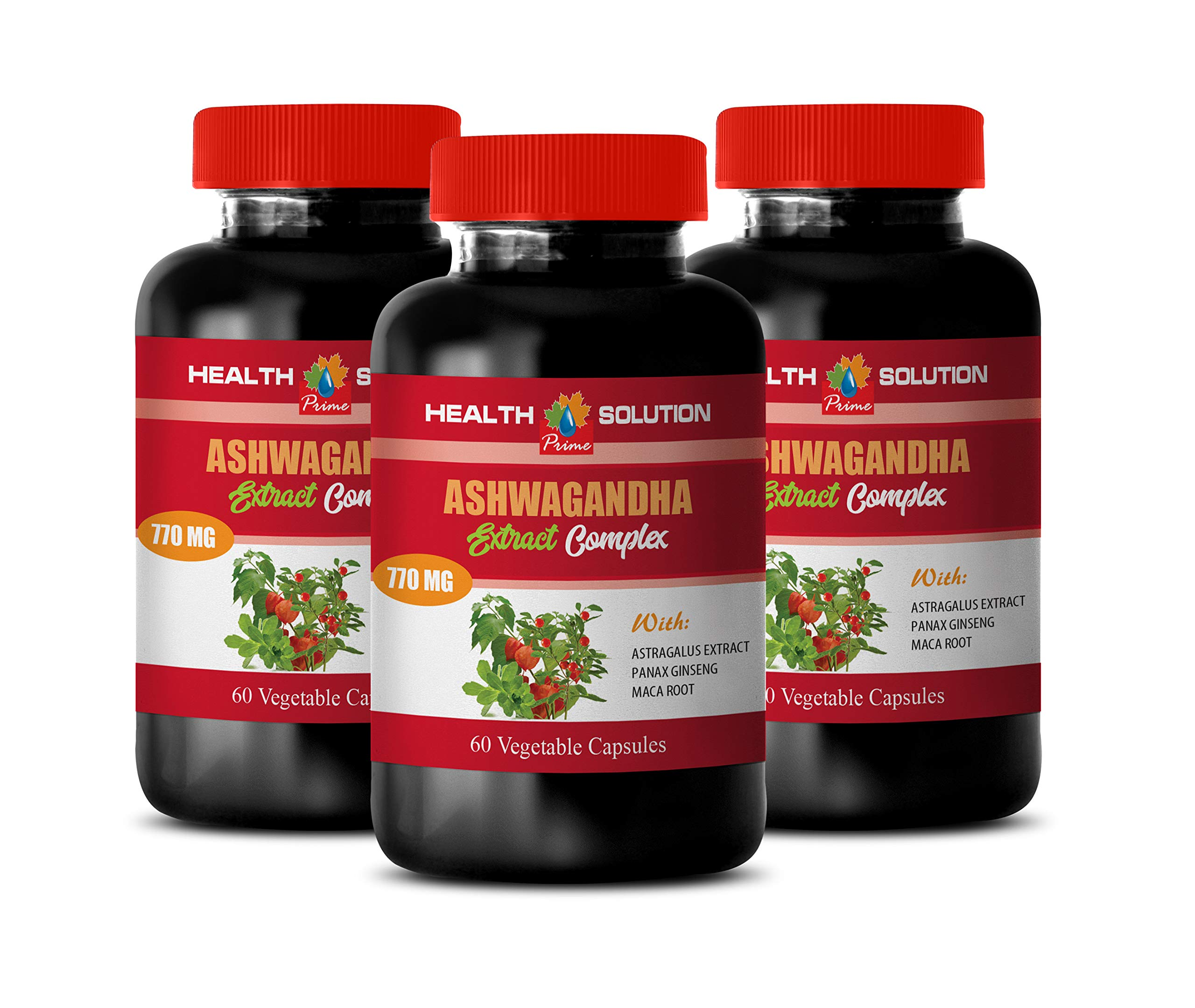 Anxiety Vitamins for Women - ASHWAGANDHA Advanced Complex - ashwagandha multivitamin - 3 Bottles 180 Capsules