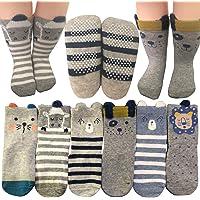 Baby Socks 6 Pairs Non Skid 12-36 Months Baby Boys Girls Toddler Anti Slip Skid Slipper Stretch Socks Footsocks Sneakers…