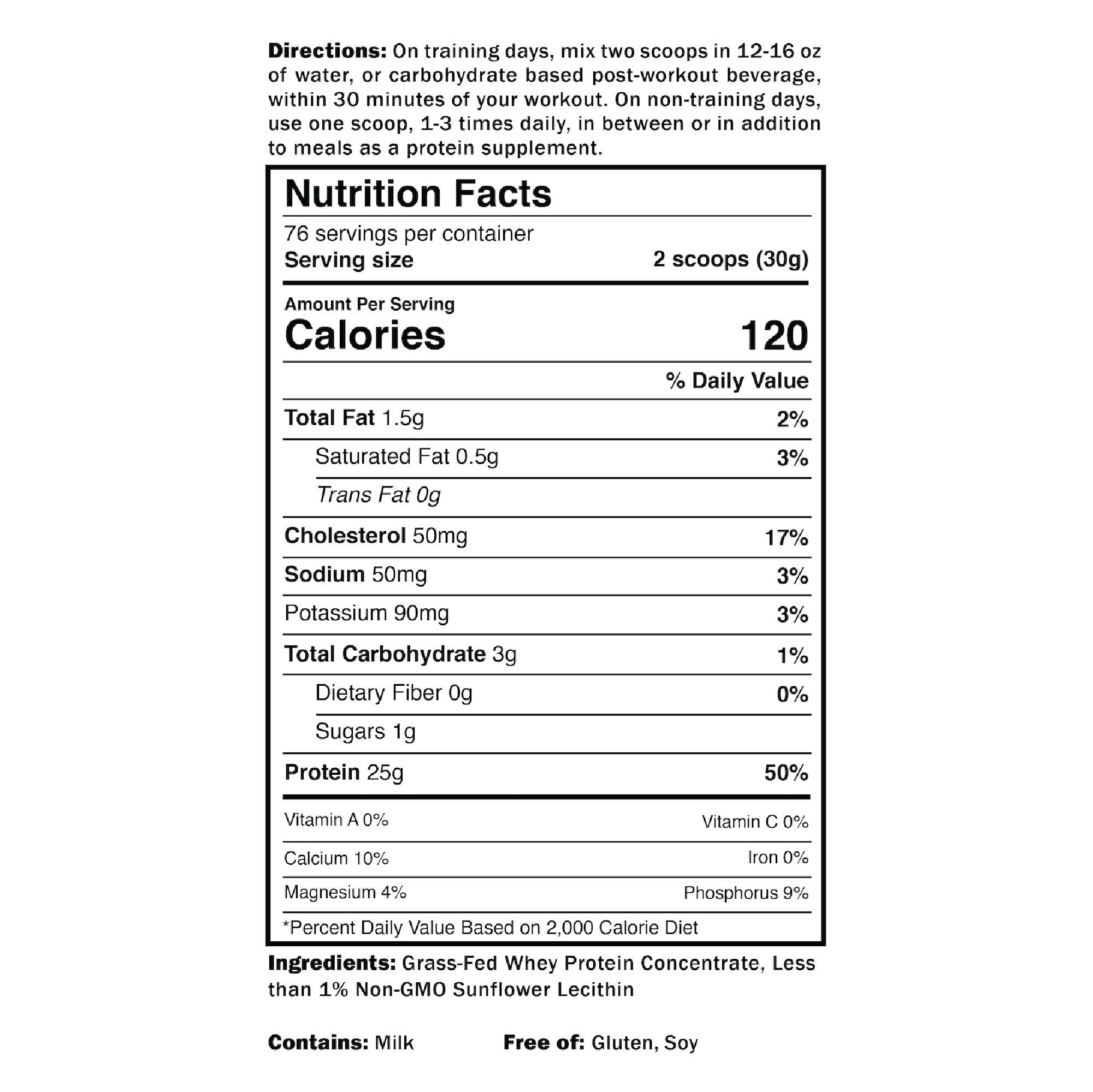 Grass Fed Whey Protein | 5lb | Unflavored Whey from California Cows | 100% Natural Whey | 2 Ingredients w/ No Sweeteners or Added Sugars | Non-GMO + Gluten Free + Preservative Free | Pure Promix_bulk by ProMix Nutrition (Image #4)