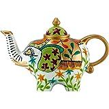 Elefant Kanne Design: weiß - grün - Teekanne aus Porzellan mit Deckel 0,8l 1827
