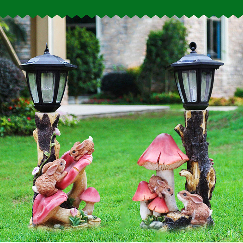 LOVEPET Outdoor Frog Mushroom Solar Light Simulation Decoration Garden Frog Mushroom Bird Feeder Garden Villa Landscape Decorations 22X23X57cm