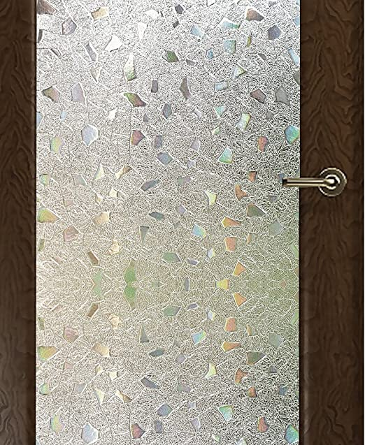 rabbitgoo 3ft x 3d no glue static decorative frosted.htm amazon com wopeite frosted window film self adhesive privacy  frosted window film self adhesive