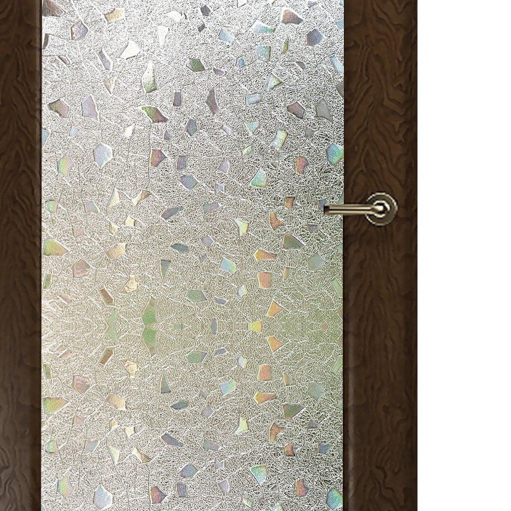Wopeite Film Intimité pour Fenêtre sans Colle Vitrostatique Contrôle-Chaleur Vitre Teinte Décoration pour Domicile Bureau Porte Coulissante 45 x 200 cm