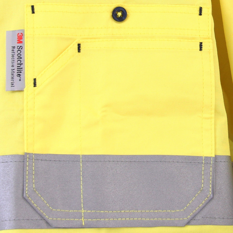 LANTERN FISH Mens High Visibility Shirt with 3M Reflective Tape Long Sleeve XMBJ