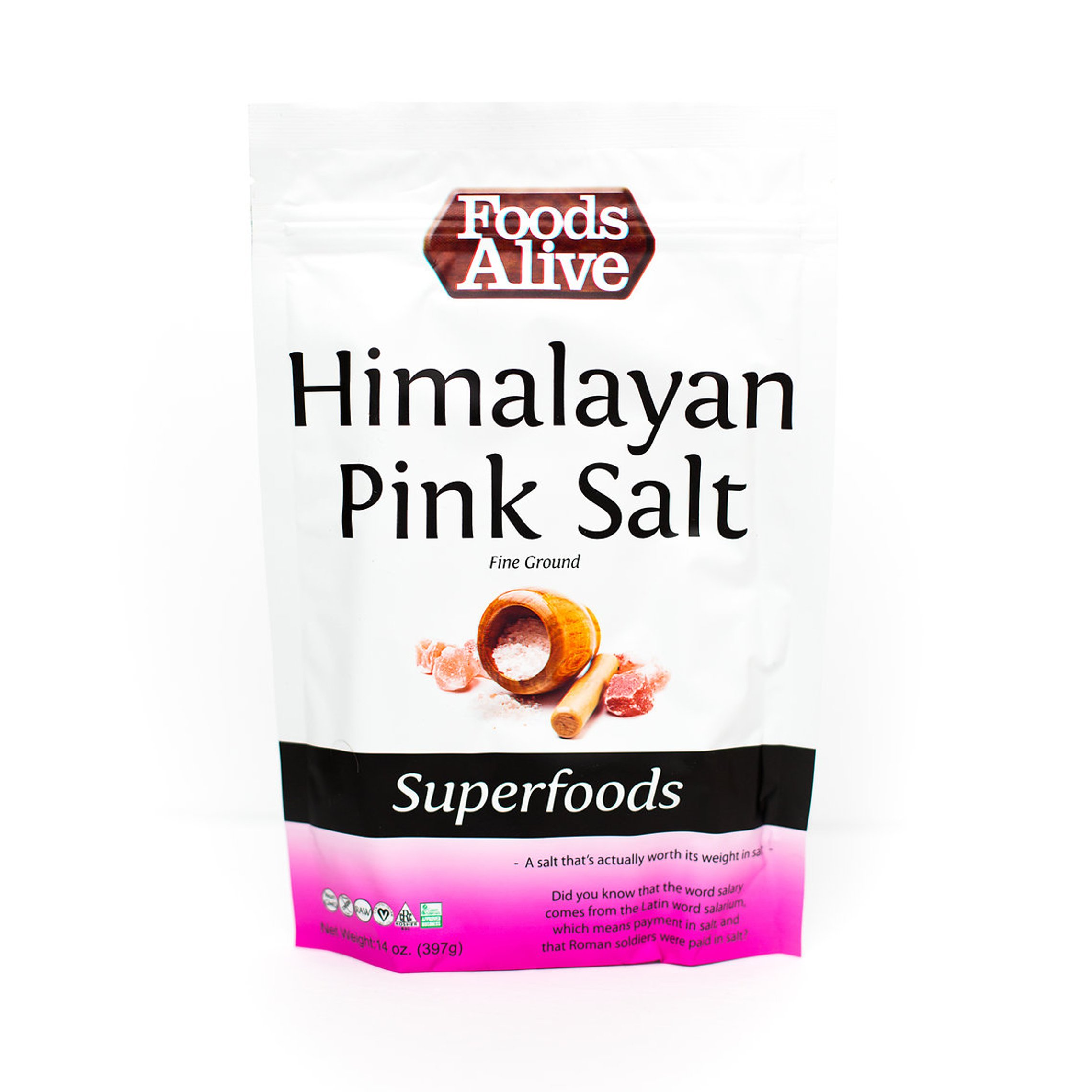 Foods Alive Himalayan Crystals, Culinary  Mineral Salt, 14-Ounce (Pack of 3)
