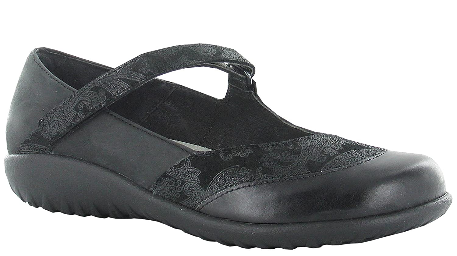 NAOT Women's LUGA Flats Shoes B019SPFM8M 11 B(M) US|Black Lace Nubuck/Oily Coal Nubuck/Black Madras Leather