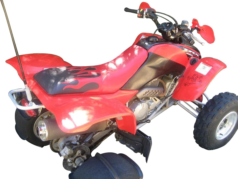 Honda TRX 400 EX negro y rojo llama funda de asiento: Amazon ...