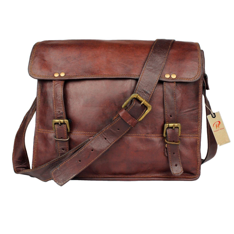 Pranjals House Messenger Bag 13 Crossbody Leather Shoulder Bag School Office College Unisex Bag. Style 5