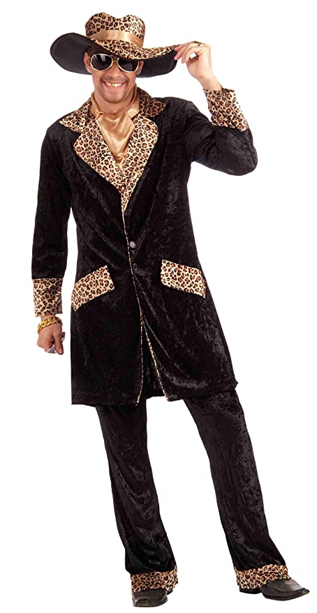 Amazon.com Forum Novelties Menu0027s Big Cat Daddy Pimp Costume Multi Standard Clothing  sc 1 st  Amazon.com : pimp costumes for mens  - Germanpascual.Com