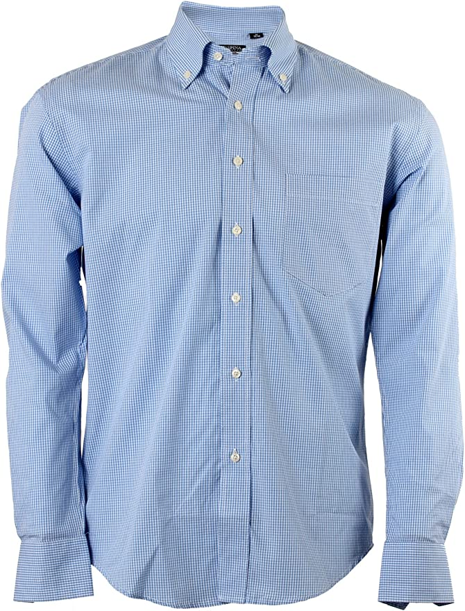 Uvaspina Classic camisa a cuadros Azzurra Azul azul claro ...