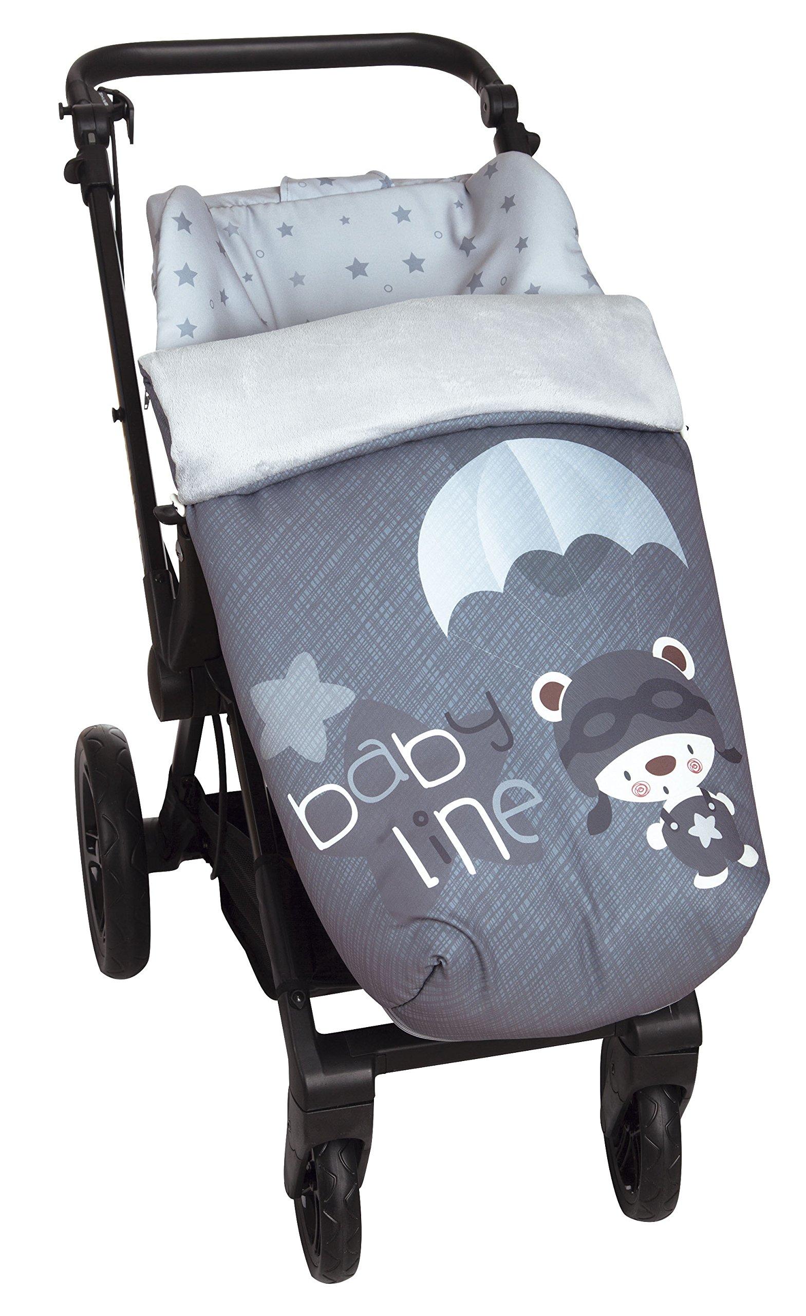 Saco de Bebé Universal Silla con Cubre Pies Polar, Desmontable con Cremalleras. Lavable a