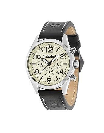 Timberland Reloj Multiesfera para Hombre de Cuarzo con Correa en Cuero 15249JS/07: Amazon.es: Relojes