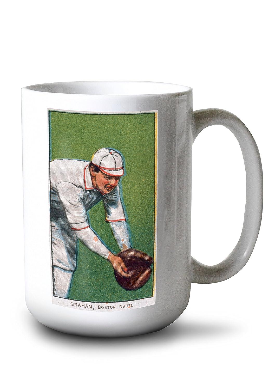 ボストンDoves – 桃Graham – 野球カード# 1 15oz Mug LANT-3P-15OZ-WHT-21754 15oz Mug  B077RS69D3