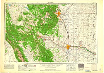 Amazon.com: Pueblo CO topo map, 1:250000 Scale, 1 X 2 Degree ...