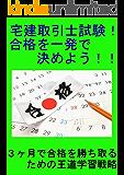 宅建取引士試験!合格を一発で決めよう!!: 3ヶ月で合格を勝ち取るための王道学習戦略