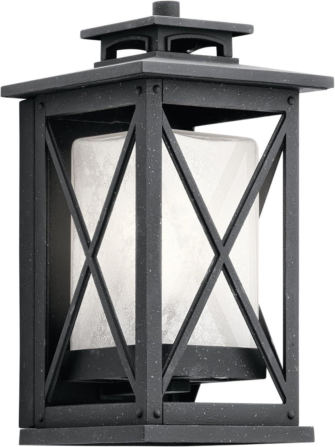 Kichler 9708BK Mount Vernon Outdoor Wall Sconce 1 Light Incandescent 150 Watts Black