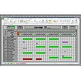 Excel Urlaubsplaner 2019 2020 u.s.w. digitaler elektronischer Urlaubskalender Personalplaner Dienstplaner Urlaubsplan mit Statistik Jahresübersicht Erinnerungsliste und Urlaubsantrag