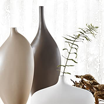 Große Blumenvase amazon de große blumenvase 3 teilig set vasen aus porzellan