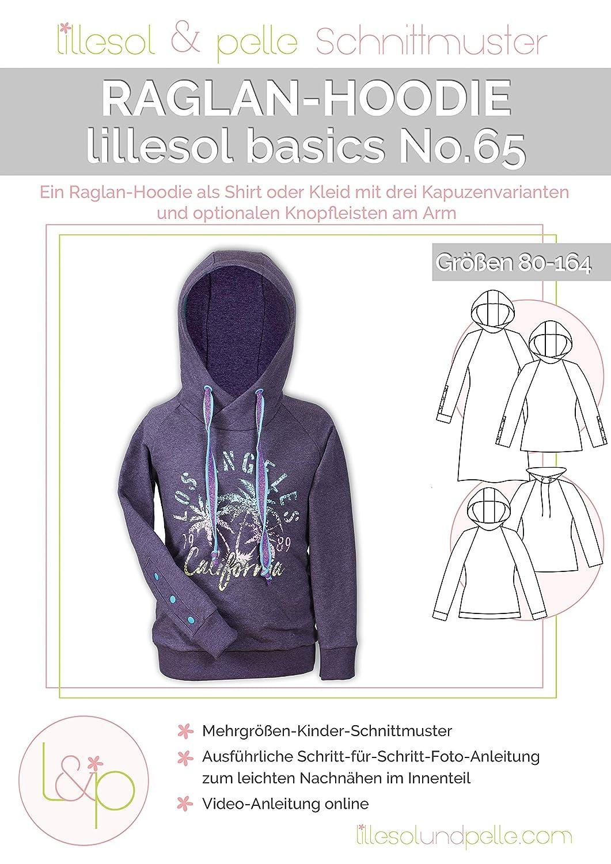 lillesol Basics No.65 Raglan-Hoodie in Gr/ö/ße 80-164 zum N/ähen mit Foto-Anleitung und Video