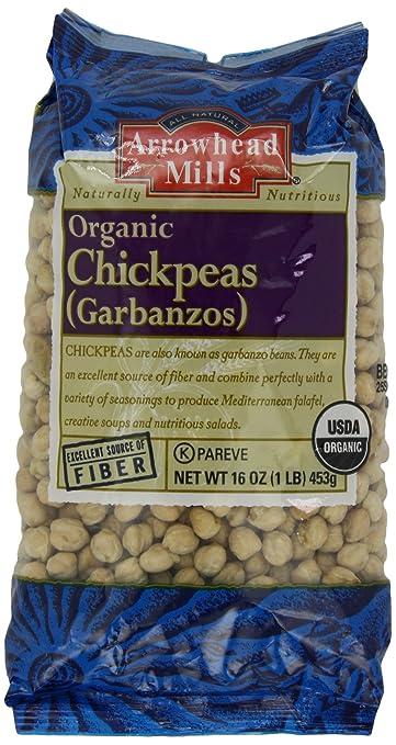 Arrowhead Mills Organic Chickpeas, 16 Ounce