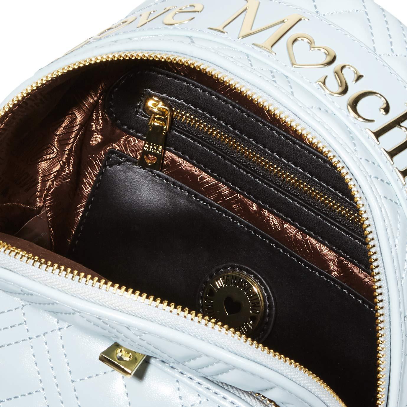Love Moschino dam Jc4009pp1a ryggsäck handväska Blå (Nuvola)