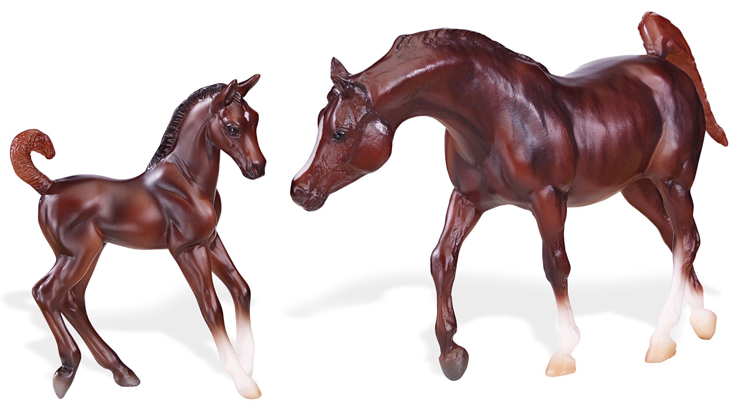 Dolls - Breyer Classics Chestnut Arabian Horse & Foal Toy ... - photo#13