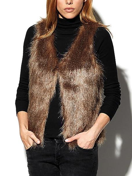 f2c69463aa Alessandra - Gilet - Gilet - Donna marrone S: Amazon.it: Abbigliamento