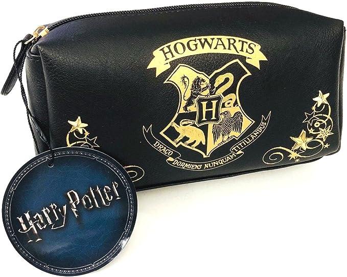 Primark Harry Potter Hogwarts negro y dorado bolsa de maquillaje: Amazon.es: Belleza