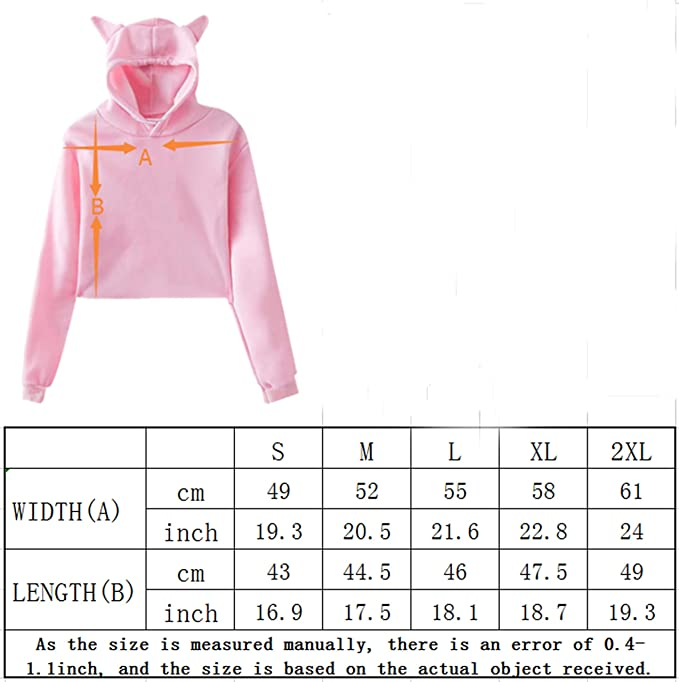 LDShadowLady Girls Cat Ear Hoodie Sweater Sport Pullover Black
