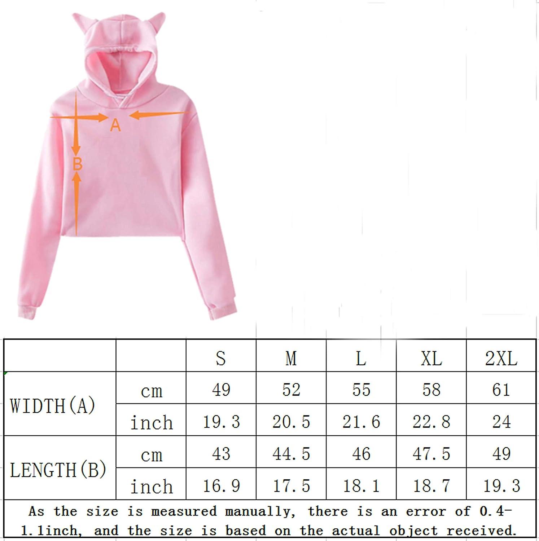 LDShadowLady Girls Cat Ear Hoodie Sweater Sport Pullover Pink