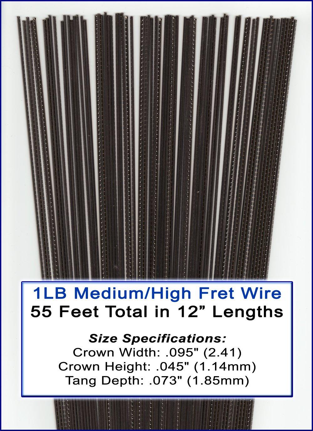 1 Pound Bulk Medium/High Nickel-Silver Fret Wire for Guitar, Cigar Box Guitar & More! C. B. Gitty Crafter Supply C. -3331