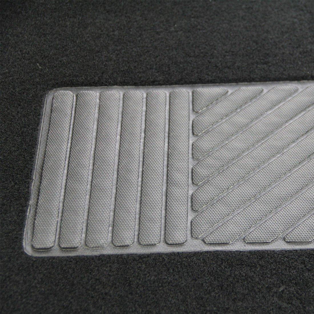 Copap Car Floor Mats Carpet Full Set Floor Mats for Cars SUV Trucks Include 4pcs Front Rear Car Carpet Floor Mats Black with Gray Flame Pattern Automart IAFM-6038-B
