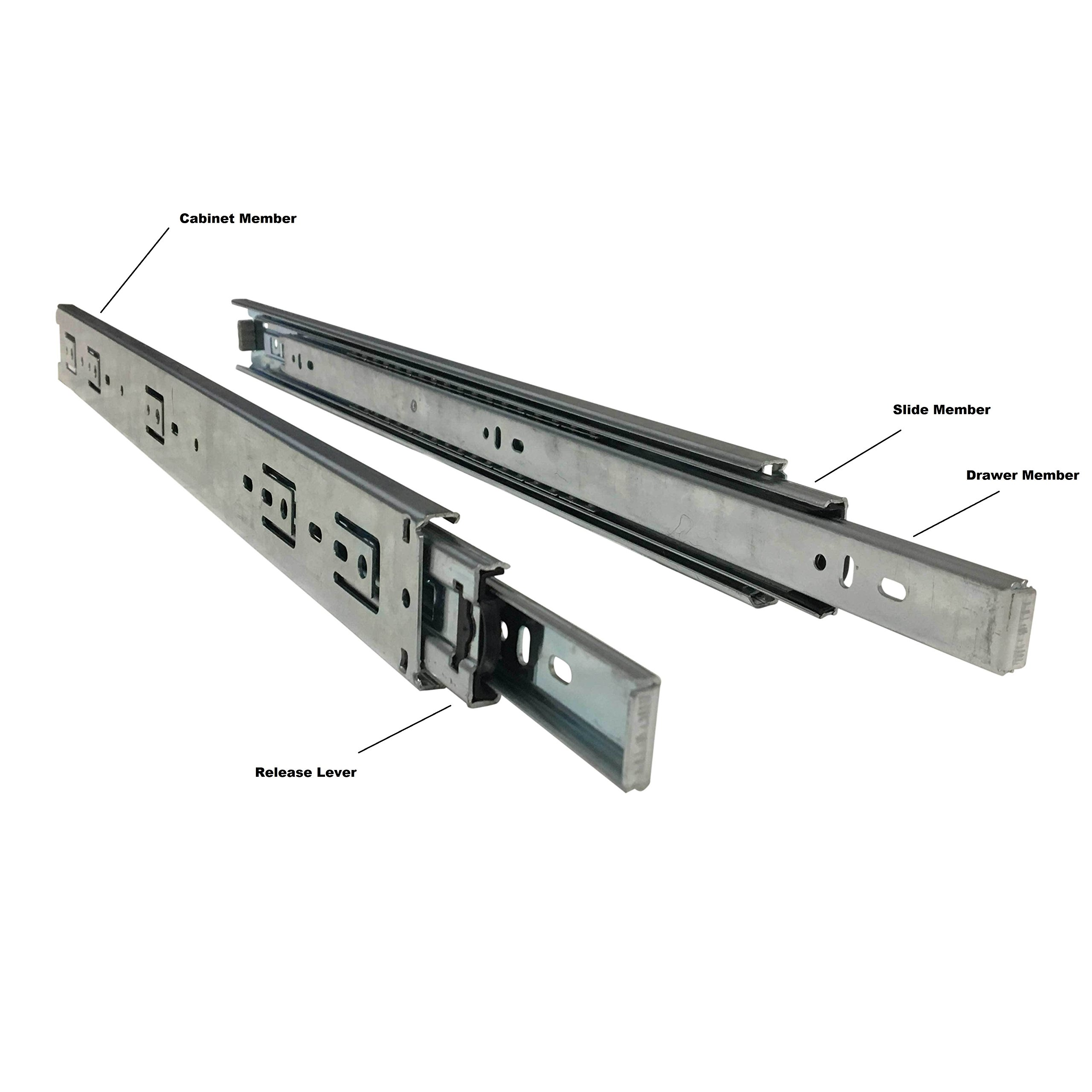 Firgelli Automations Full Extension Drawer Slides 400 lb Capacity (50'') by Firgelli Automations (Image #3)