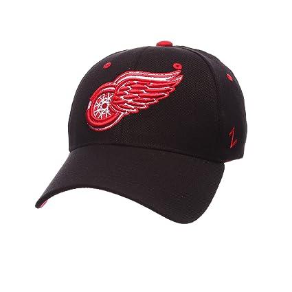 reputable site dd766 bd22e ZHATS NHL Detroit Red Wings Men s Breakaway Cap, X-Small, Black