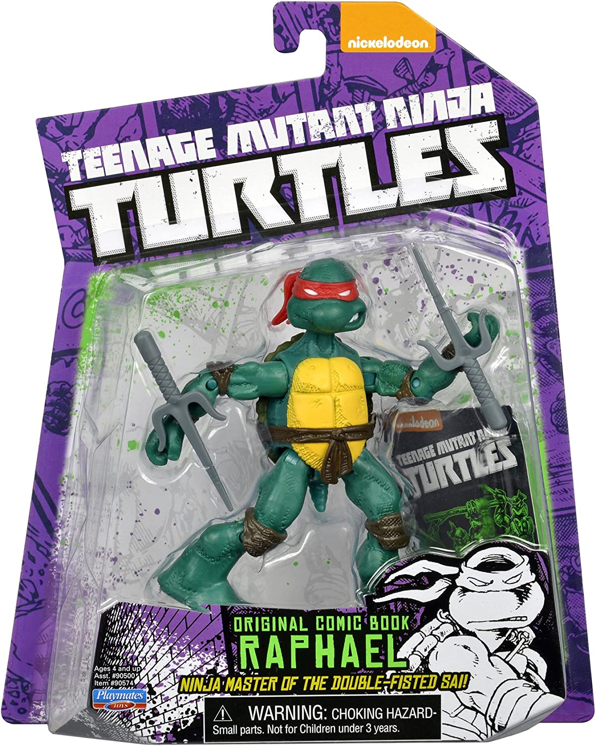 Amazon Com Teenage Mutant Ninja Turtles Comic Book Raphael Figure