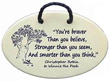 Amazoncom Mountain Meadows Pottery Youre Braver Than You Believe