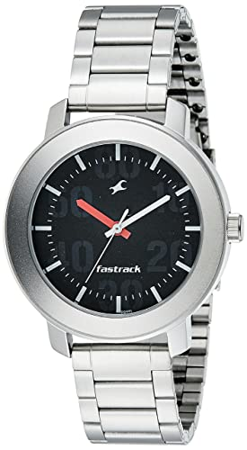 3. Fastrack Casual Analog Black Dial Men's Watch -NK3121SM02