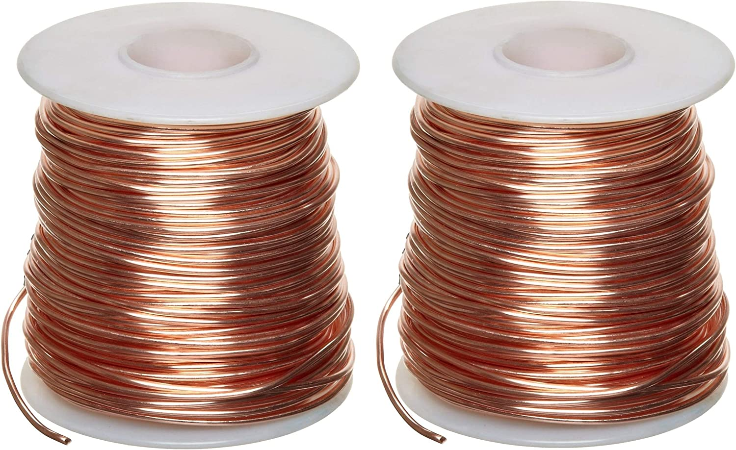 "22 AWG Gauge Bare Copper Wire Buss Wire 100/' Length 0.0253/"" Natural"