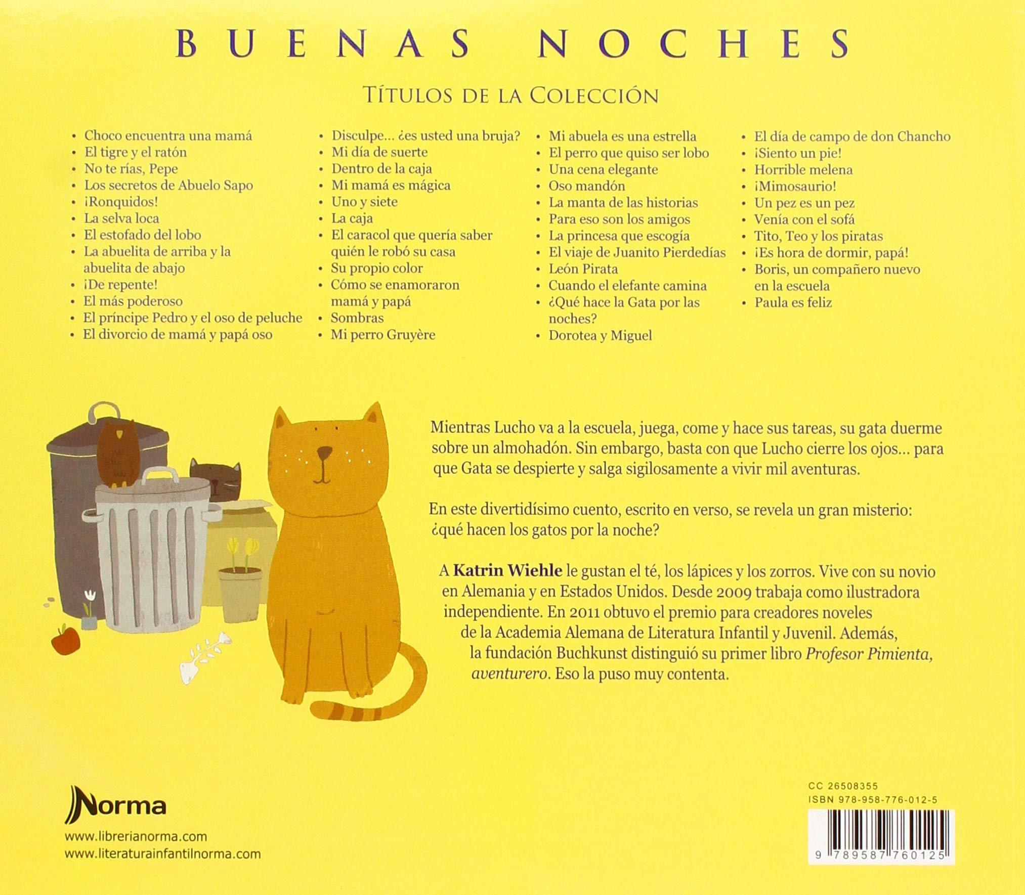 Que Hace La Gata Por Las Noches? (Buenas Noches) (Spanish Edition): Katrin Wiehle: 9789587760125: Amazon.com: Books