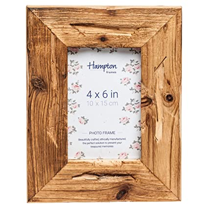Marco de madera flotante de perfil de 5 cm de ancho madera rústica marco de fotos