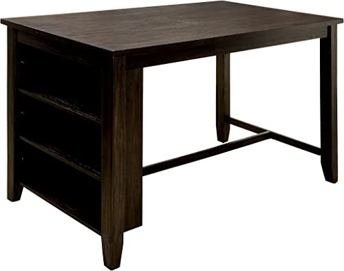 HOMES Inside Out Nolion Dining Table, Dark Walnut