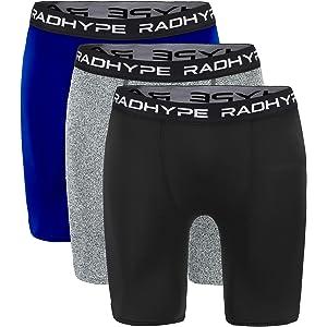 1c1dc62fb8f784 RADHYPE Men Polyester Classic Fit Sport Performance Boxer Brief Underwear