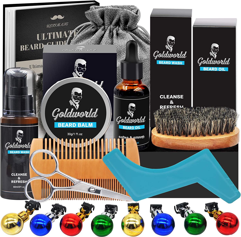 Price Drop! Beard Care Kit for Men Set of 9 Pcs