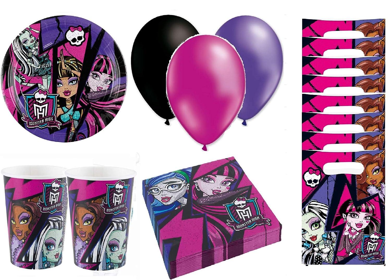 Monster High cumpleaños - Kit de cumpleaños 8 Personas ...