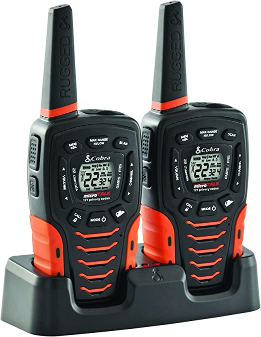 Amazon.com: COBRA ACXT645 Walkie Talkies - Water Resistant, Rechargeable Long Range 35-Mile Two Way Radios with VOX & ( 2 Pack )